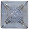 Swarovski 4481 Vision Square Fancy Stone Crystal Blue Shade 12mm