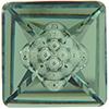 Swarovski 4481 Vision Square Fancy Stone Erinite 12mm