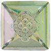 Swarovski 4481 Vision Square Fancy Stone Crystal Luminous Green 12mm