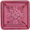 Swarovski 4481 Vision Square Fancy Stone Rose 12mm