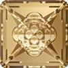 Swarovski 4481 Vision Square Fancy Stone Crystal Golden Shadow 12mm