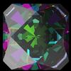 Swarovski 4499 Kaleidoscope Square Fancy Stone 6mm Crystal Vitrail Medium