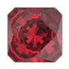 Swarovski 4499 Kaleidoscope Square Fancy Stone 6mm Scarlet
