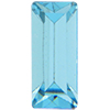 Swarovski 4500 Baguette Fancy Stone Aqua (Gold Foil) 10x3mm