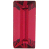 Swarovski 4500 Baguette Fancy Stone Ruby (Gold Foil) 10x3mm