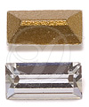 Swarovski 4500 Baguette Fancy Stone Crystal (Gold Foil) 10x8mm