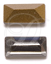 Swarovski 4500 Baguette Fancy Stone Black Diamond (Gold Foil) 10x3mm