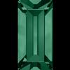 Swarovski 4501 Baguette Fancy Stone Emerald (Gold Foiled) 4x2mm
