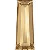 Swarovski 4503 Tapered Baguette Fancy Stone Crystal Golden Shadow 4x2mm