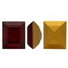 Swarovski 4510 Baguette Double Cut Fancy Stone Siam (Gold Foiled) 12x10mm