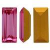 Swarovski 4510 Baguette Double Cut Fancy Stone Rose (Gold Foiled) 12x5mm