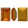 Swarovski 4510 Baguette Double Cut Fancy Stone Topaz (Gold Foiled) 12x10mm