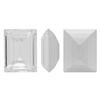Swarovski 4510 Baguette Double Cut Fancy Stone Crystal (Gold Foil) 9x7mm