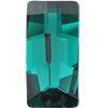 Swarovski 4524 Pure Baguette Fancy Stone Emerald 23x11mm