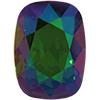 Swarovski 4568 Cushion Fancy Stone Dark Moss Green Purple Haze 14x10mm