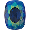 Swarovski 4568 Cushion Fancy Stone Denim Blue AB 14x10mm