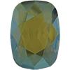 Swarovski 4568 Cushion Fancy Stone Crystal Iridescent Green 14x10mm