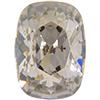 Swarovski 4568 Cushion Fancy Stone Crystal Silver Shade 14x10mm