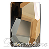 Swarovski 4583 Graphic Flat Fancy Stone Crystal Golden Shadow 24x16mm