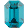 Swarovski 4600 Rectangle Octagon Fancy Stone Blue Zircon 7x5mm