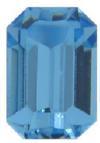 Swarovski 4600 Rectangle Octagon Fancy Stone Aquamarine Unfoiled 10x8mm