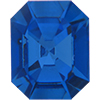 Swarovski 4606 Emerald-Cut Fancy Stone Sapphire (Gold Foil) 10x8mm