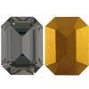 Swarovski 4610 Rectangle Octagon Fancy Stone Black Diamond (Gold Foil) 14x10mm