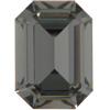 Swarovski 4610 Rectangle Octagon Fancy Stone Black Diamond 14x10mm