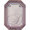 Swarovski 4610 Rectangle Octagon Fancy Stone Light Amethyst (Unfoiled) 12x10mm
