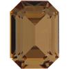 Swarovski 4610 Rectangle Octagon Fancy Stone Light Colorado Topaz 14x10mm