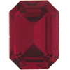 Swarovski 4610 Rectangle Octagon Fancy Stone Ruby (Gold Foil) 18x13mm