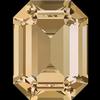 Swarovski 4610 Rectangle Octagon Fancy Stone Crystal Golden Shadow 14x10mm