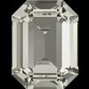Swarovski 4610 Rectangle Octagon Fancy Stone Crystal Silver Shade 14x10mm