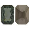 Swarovski 4627 Large Rectangle Octagon Fancy Stone Black Diamond 27x18.5mm
