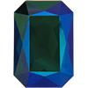 Swarovski 4627 Large Rectangle Octagon Fancy Stone Emerald Glacier Blue 27x18.5mm