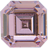 Swarovski 4671 Square Emerald-Cut Fancy Stone Light Amethyst 8mm