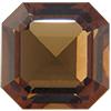 Swarovski 4671 Square Emerald-Cut Fancy Stone Smoked Topaz (Unfoiled) 10mm