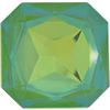 Swarovski 4675 Square Octagon Fancy Stone Ultra Lime AB 23mm