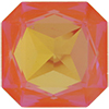 Swarovski 4675 Square Octagon Fancy Stone Ultra Orange AB 23mm