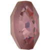 Swarovski 4678/G Solaris Fancy Stone, Partly Frosted Antique Pink 23mm