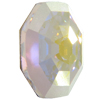 Swarovski 4678/G Solaris Fancy Stone, Partly Frosted Crystal AB 14mm
