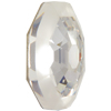Swarovski 4678/G Solaris Fancy Stone, Partly Frosted Crystal 14mm