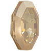 Swarovski 4678/G Solaris Fancy Stone, Partly Frosted Crystal Golden Shadow 14mm
