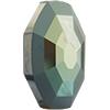Swarovski 4678/G Solaris Fancy Stone, Partly Frosted Jet Verde 14mm