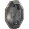 Swarovski 4678/G Solaris Fancy Stone, Partly Frosted Crystal Silver Night (Unfoiled) 14mm