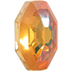 Swarovski 4678/G Solaris Fancy Stone, Partly Frosted Crystal Summer Blush 14mm