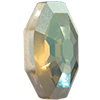 Swarovski 4678/G Solaris Fancy Stone, Partly Frosted Crystal Verde 14mm