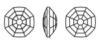 Swarovski 4678/G Solaris Fancy Stone, Partly Frosted Jet Hematite 14mm