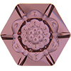 Swarovski 4681 Vision Hexagon Fancy Stone Crystal Antique Pink 14mm