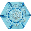 Swarovski 4681 Vision Hexagon Fancy Stone Aquamarine 14mm